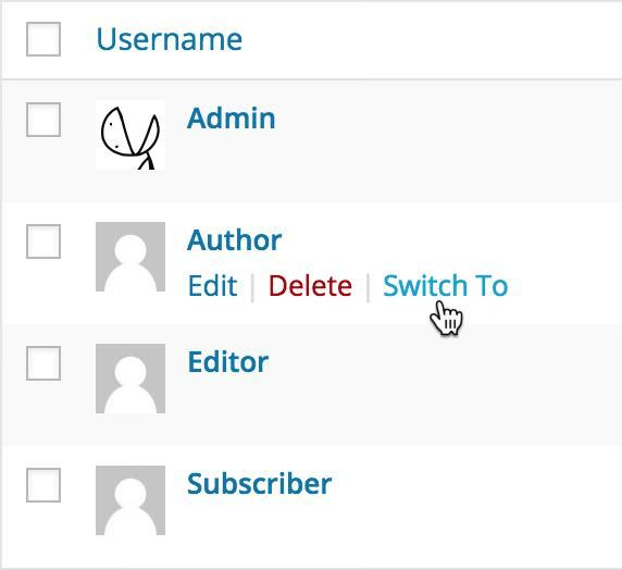 Switch user accounts with User Switching
