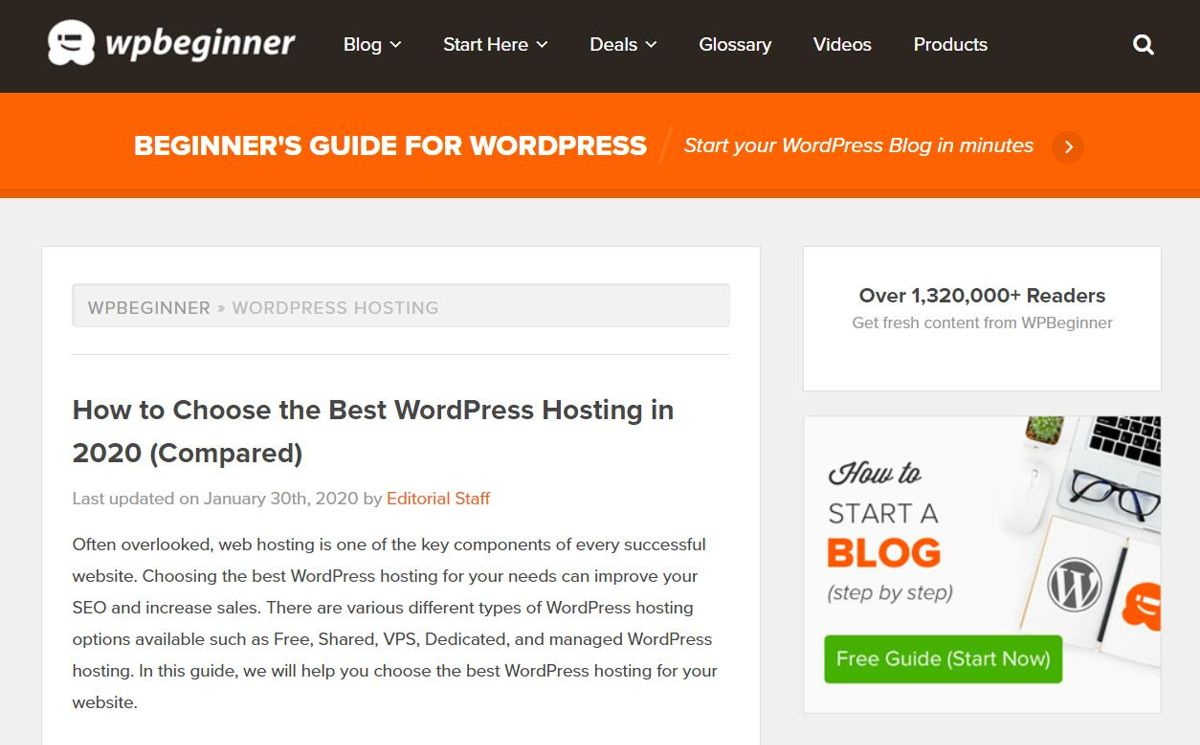 WPBeginner provides hosting reviews