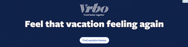 vrbo successful banner advertising example