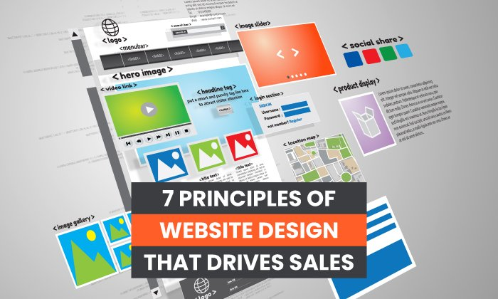 7 principles of website design that drive sales