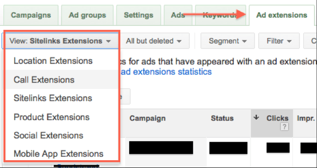 how to edit ad extensions