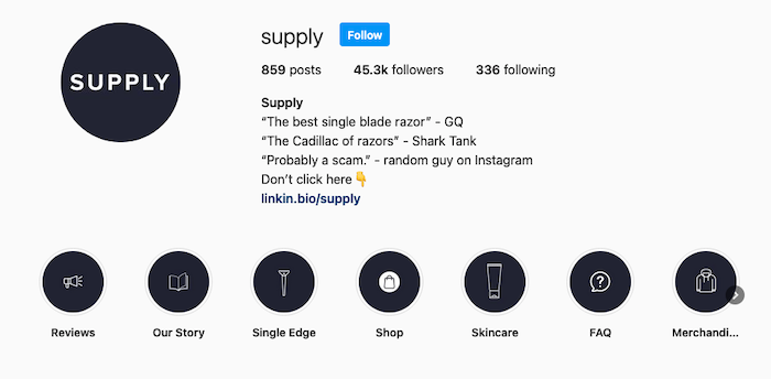 Best Instagram Bios for E-commerce Businesses - Supply