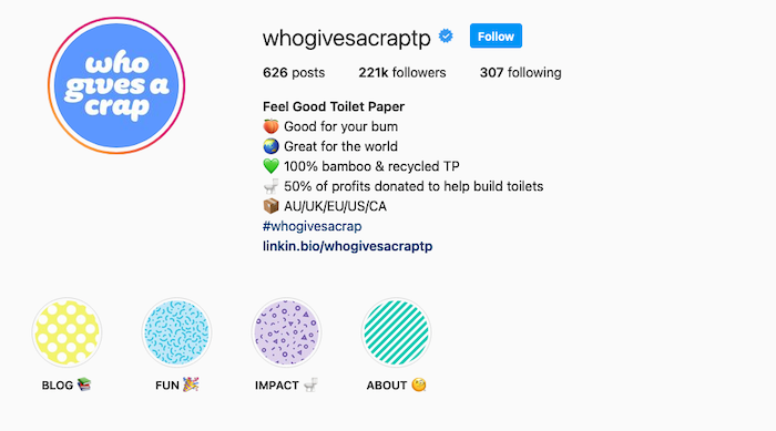 Best Instagram Bios for Ecommerce Businesses - Who Gives a Crap