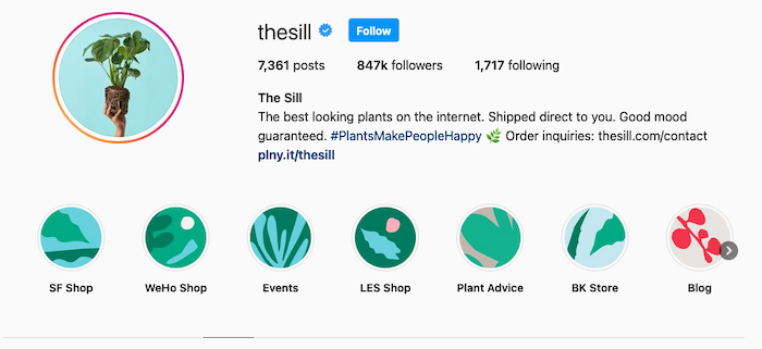 Best Instagram Bios for Ecommerce Businesses - The Sill