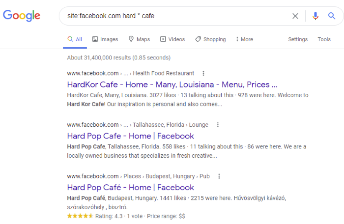 Facebook Search Operators to Try - Basic Boolean Facebook Search to Fill In Blanks