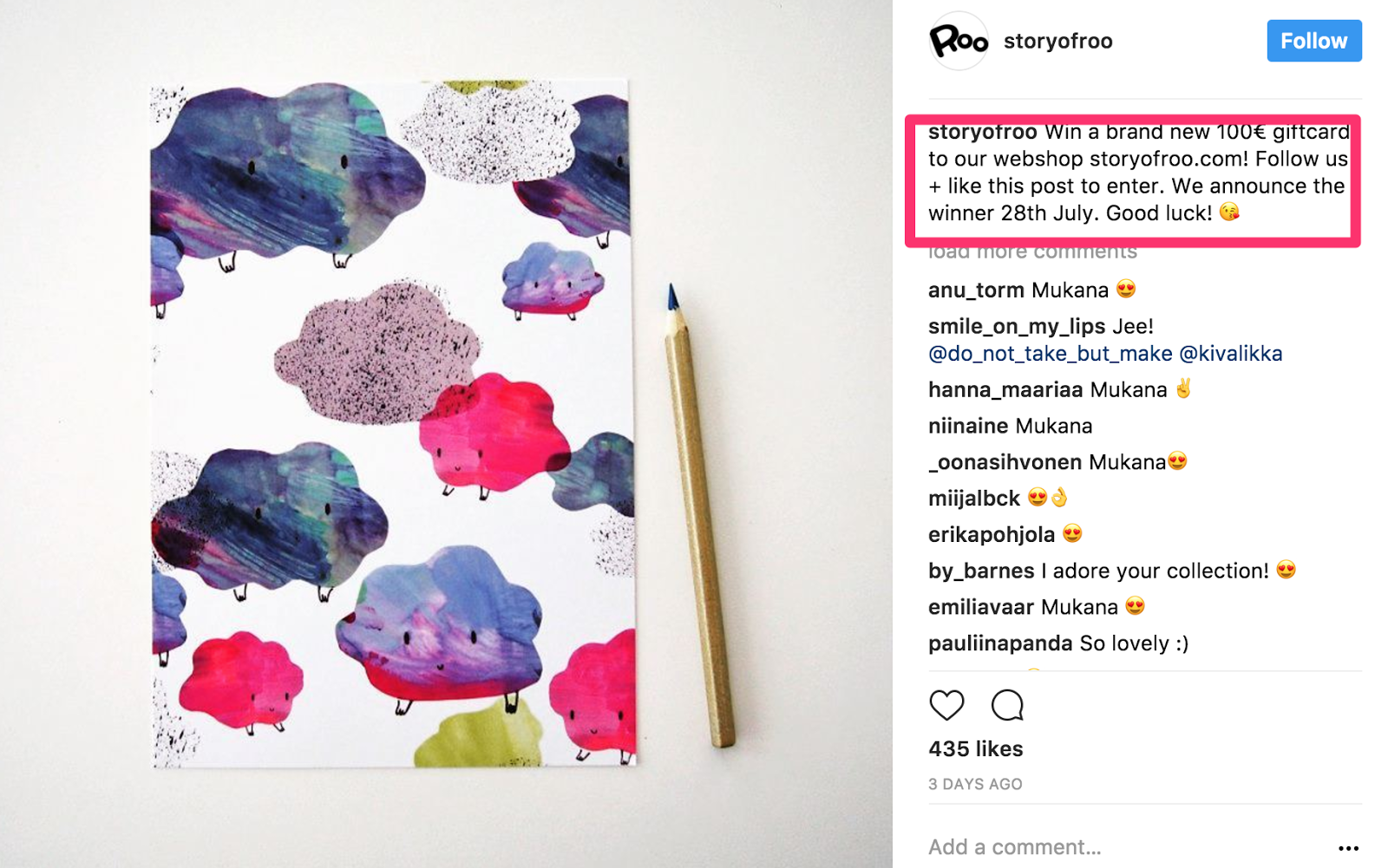 """instagram contest ideas - example of """"like to win"""""""