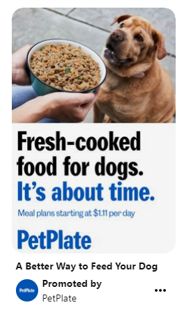 Ad showing product as a service to pet owners