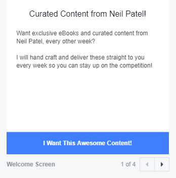 SMS marketing facebook ad example