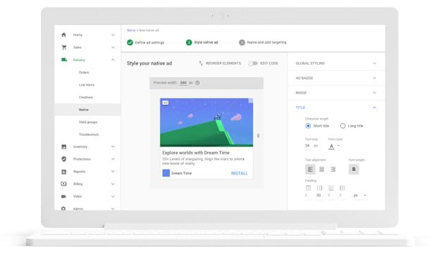 google ad manager dashboard