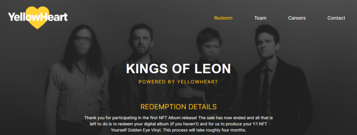 The Kings of Leon are the first band to release an NFT album.