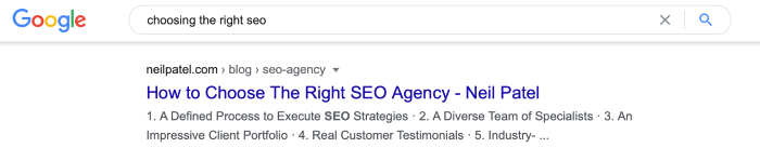 evergreen content - SEO agency post example