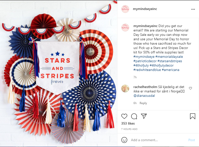 Tips for E-Commerce Memorial Day Sales - Run a Paid Ad Campaign Showcasing Your Sales