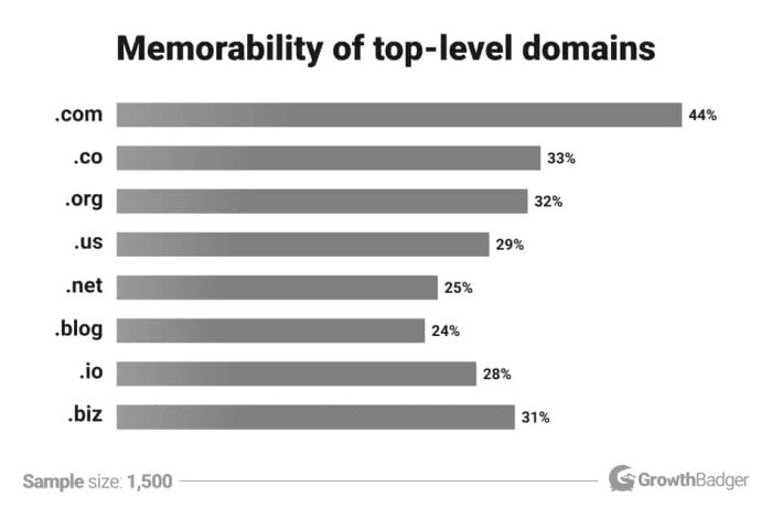 How to Choose the Perfect Top-level Domain - Memorability of domains