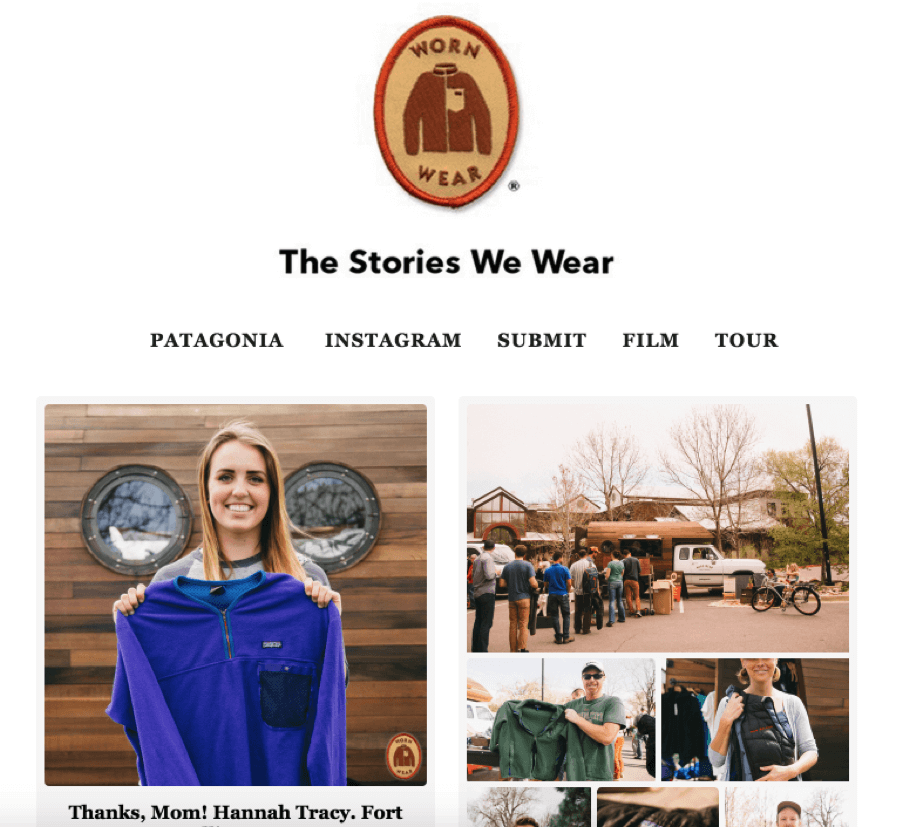 the stories we wear Patagonia brand story