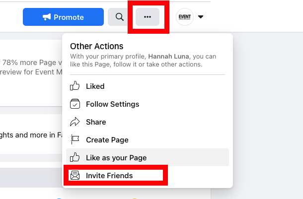 How to Create a Facebook Business Page - Invite Your Audience