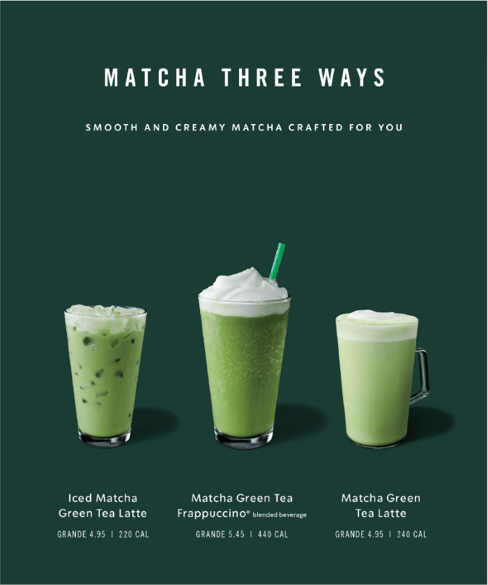 Starbucks example for creating effective food ads