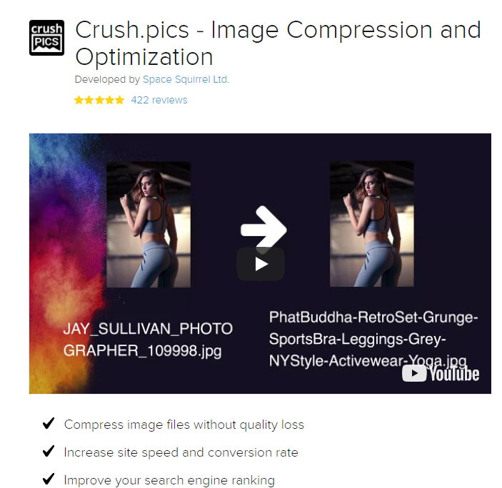 page speed insights crush pics shopify tool