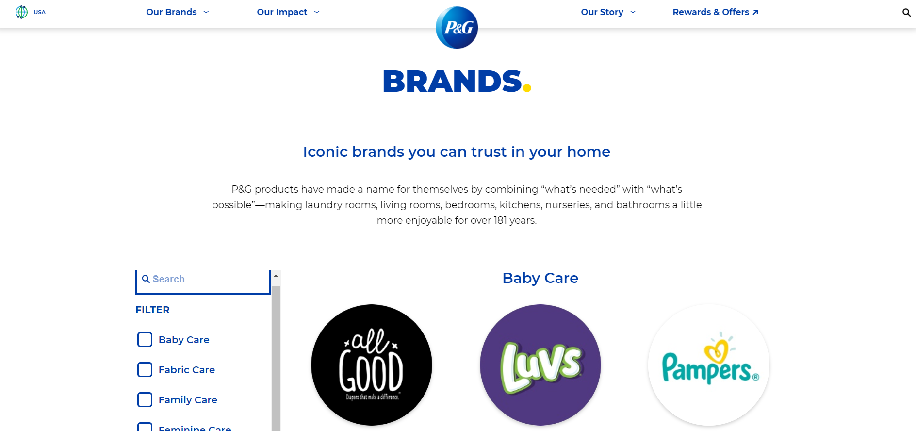 product life cycle on products - Procter & Gamble example