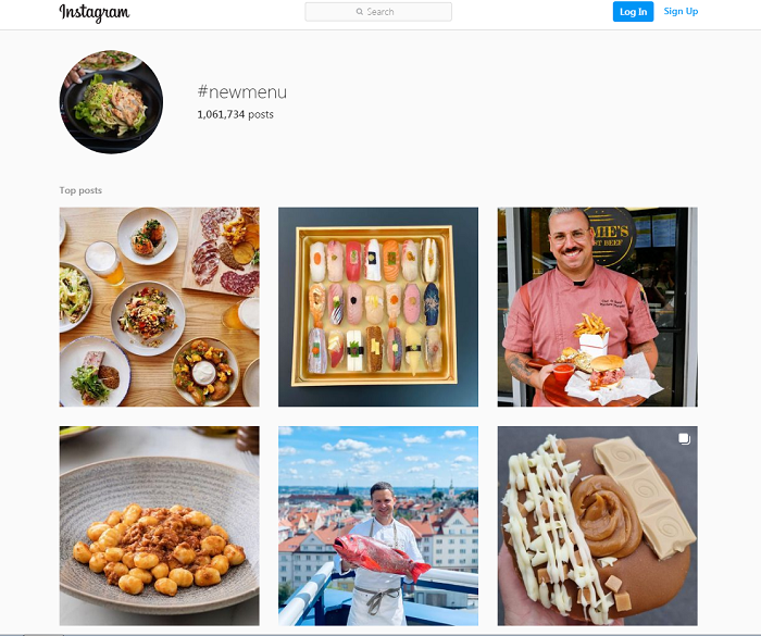 Posting about a new menu can work as an effective restaurant marketing strategy