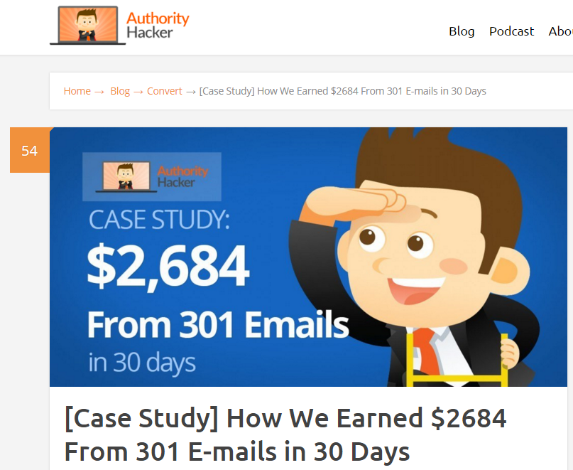 case study how to generate income from a low traffic website