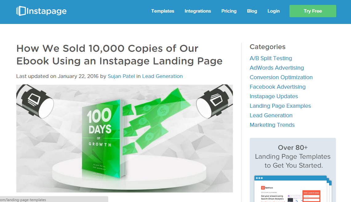 how we sold 10000 ebook using lead pages how to monetize a blog with less than 1,000 traffic guide