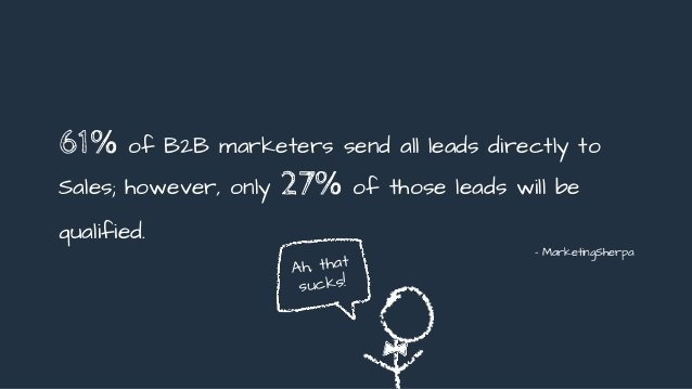 marketing sherpas stat 61 percent of b2b marketers send leads directly to sales. How to monetize a blog with less than 1,000 daily traffic guide