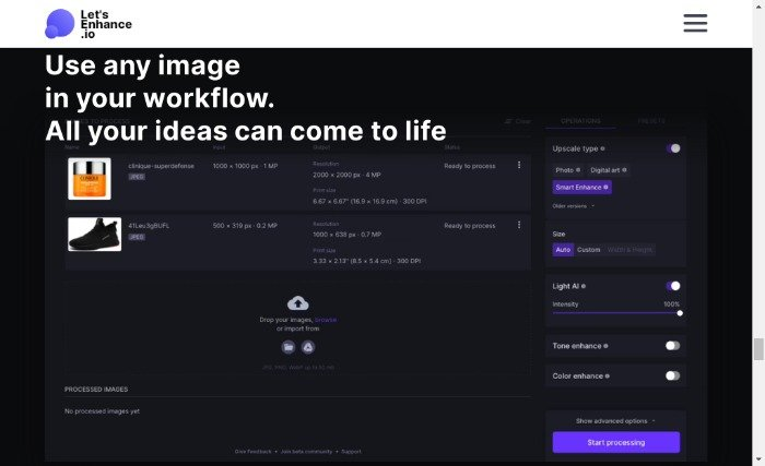 AI Tools for Media Creation - Let's Enhance