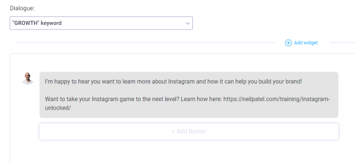 instagram automation growth example