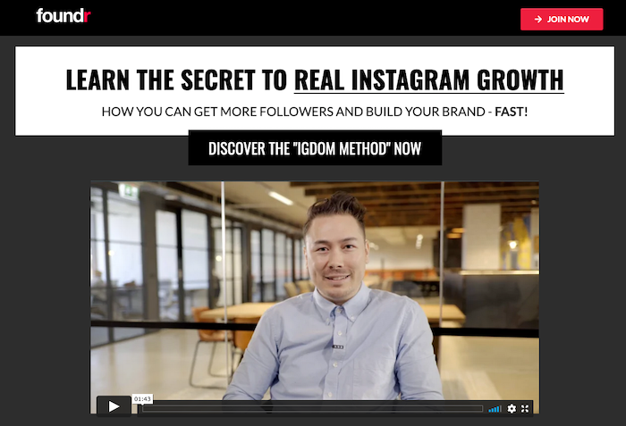 How to make money on Instagram - Foundr example