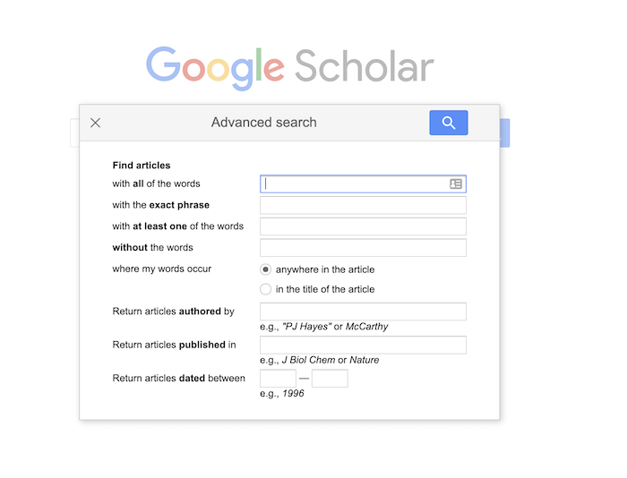 How to Use Google Scholar to Find Content Ideas - Narrow Your results by Field