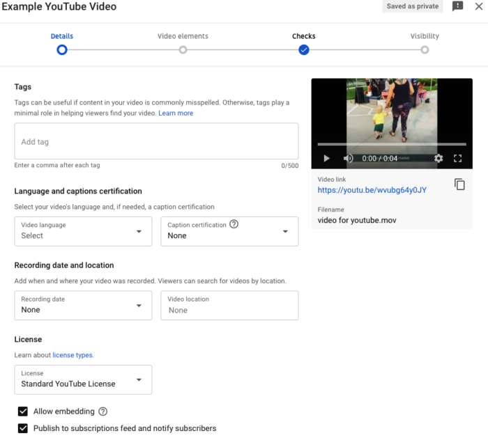 vlogging - adding tags to your videos